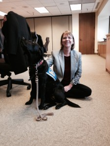 Molly B with Courthouse Dogs Foundation founder, Ellen O'Neill-Stephens